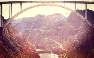New Bridge near Hoover Dam shot from inside the dam