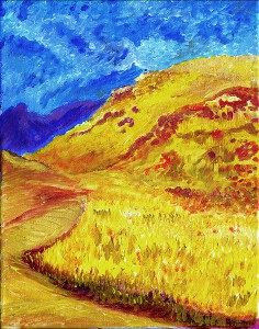 painting of impressionist valley