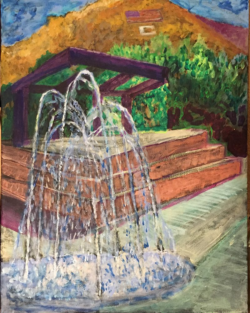 Fountain Painting from Wednesday Night Farmer's Market