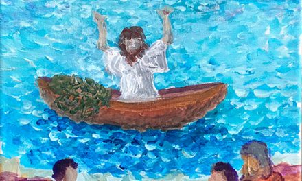 Jesus teaching on the water
