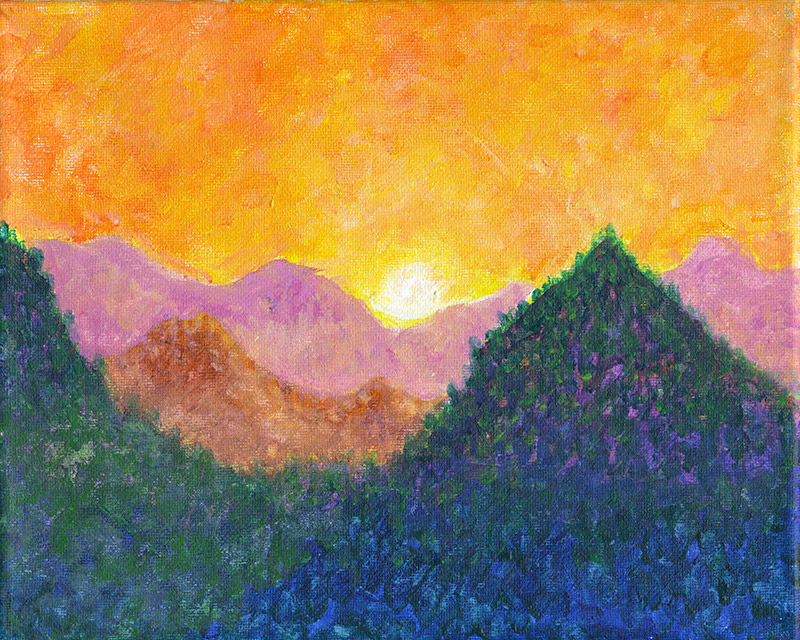 mountain-sunset-II
