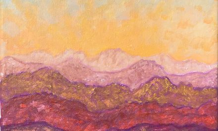 Glorious Sunrise – Painting from Farmers Market August 25, 2018.