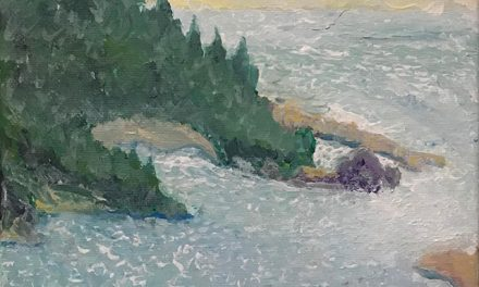 Painting from Requa in Del Norte County